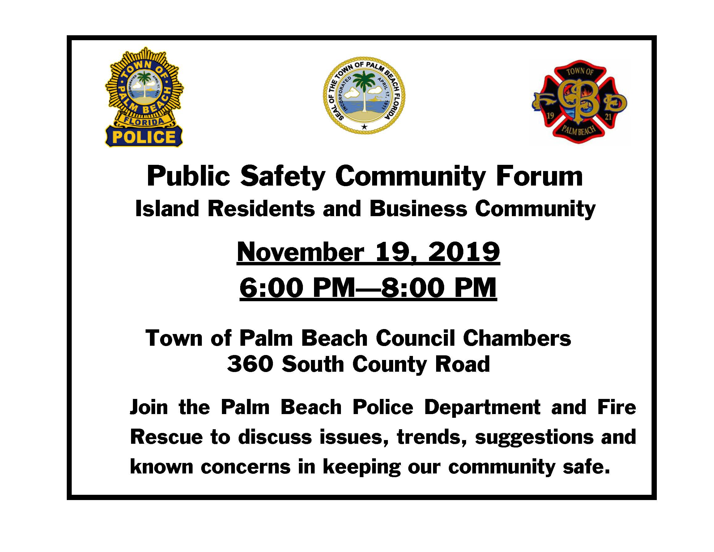 Public Safety Forum 11-19-19.