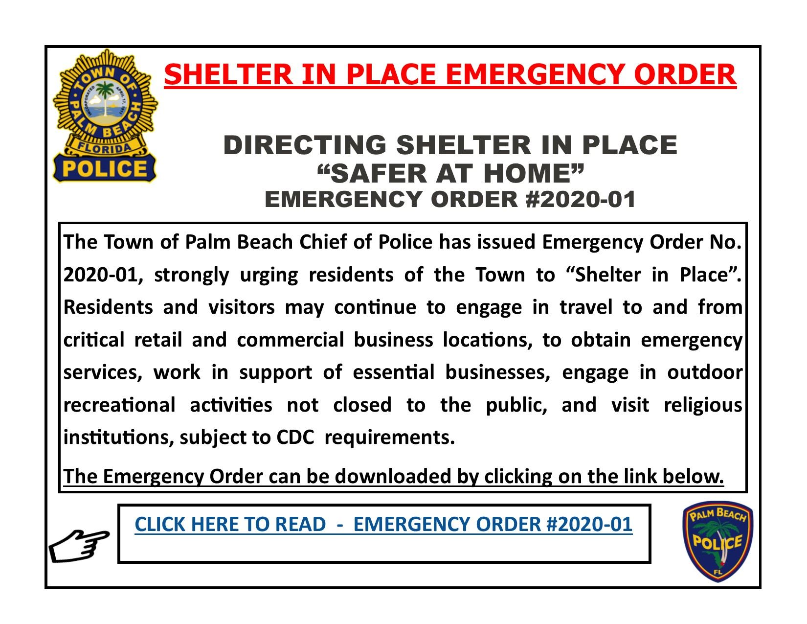 Website Shelter in Place